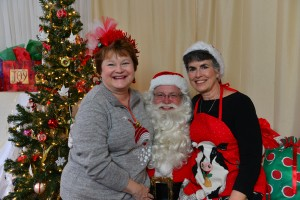 Santa with co-organizers Jennie Waering and Vicki Chapman